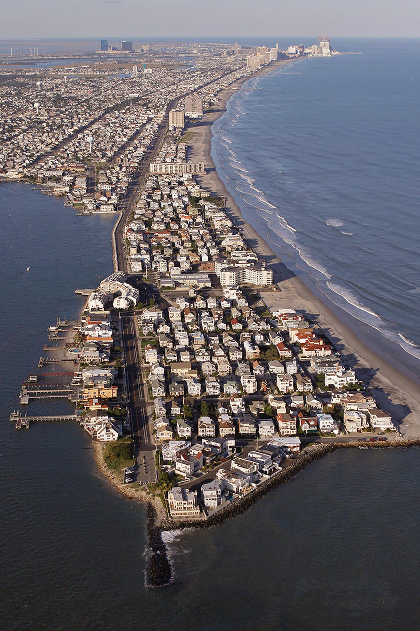 An aerial view of Absecon Island, N.J. The coronavirus and low mortgage rates have pushed some buyers on the fence to finally purchase that Jersey Shore house.