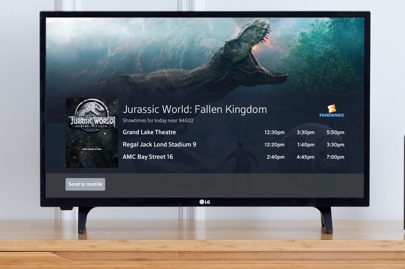 Comcast brings Fandango onto the TV through voice remote