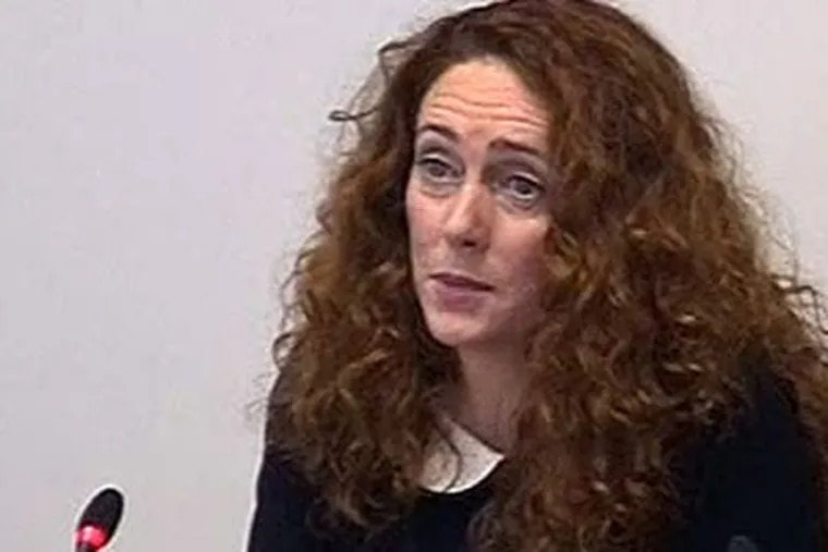 Rebekah Brooks testified Friday about her ties to some of the high-level officials in British government. Associated Press