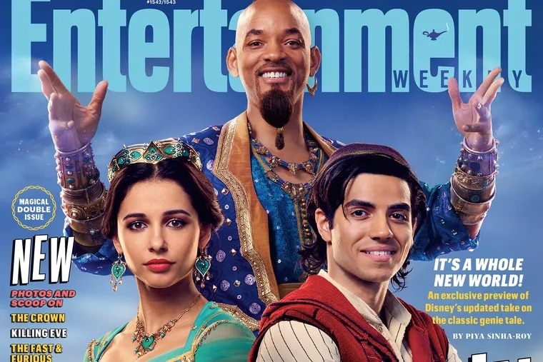 Naomi Scott, Will Smith and Mena Massoud in Guy Ritchie's live action 'Aladdin'