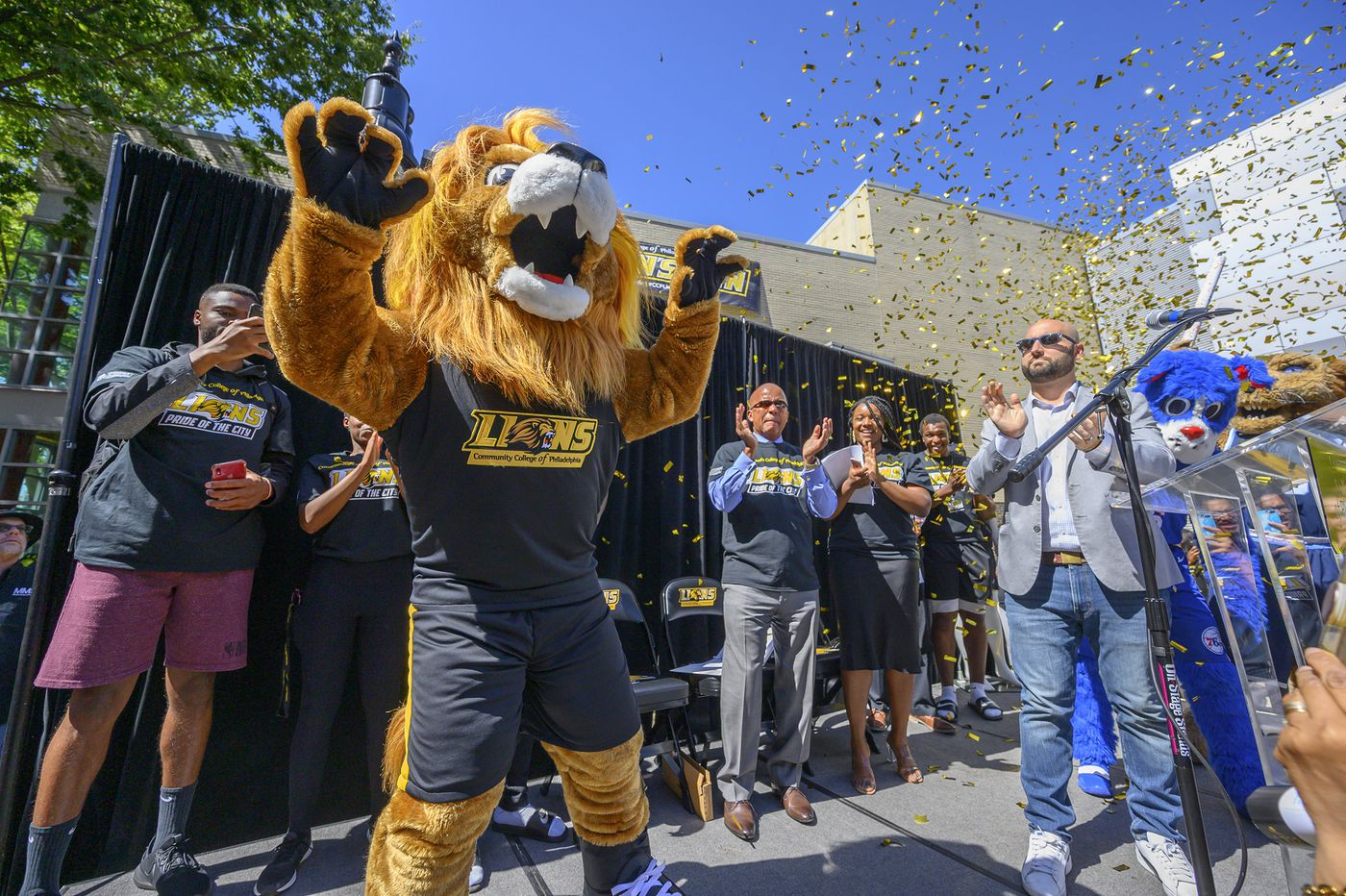 'Colonial Phil' is out as Community College of Philadelphia's long-time mascot; 'Roary,' the lion, is in