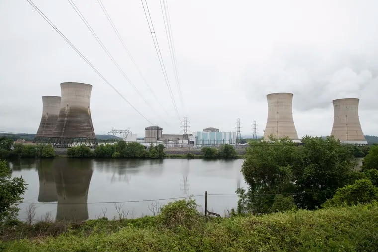 The Three Mile Island nuclear power plant in Middletown, Pa on May 22, 2017. With nuclear power plant owners seeking a rescue in Pennsylvania, a number of state lawmakers have proposed an alternative energy bill that would favor nuclear use.