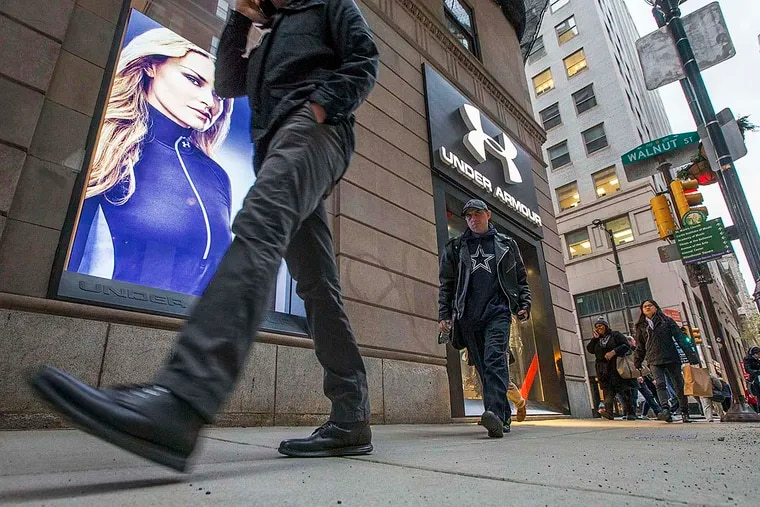 """Under Armour opened its fourth area store in August, on Walnut Street. """"We love the city,"""" said its CEO, who attended a deal-making conference in New York last week."""