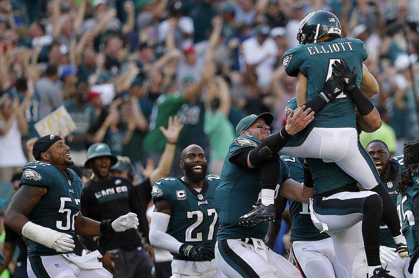 Jake Elliott 61-yard field goal gives Eagles dramatic 27-24 win over Giants