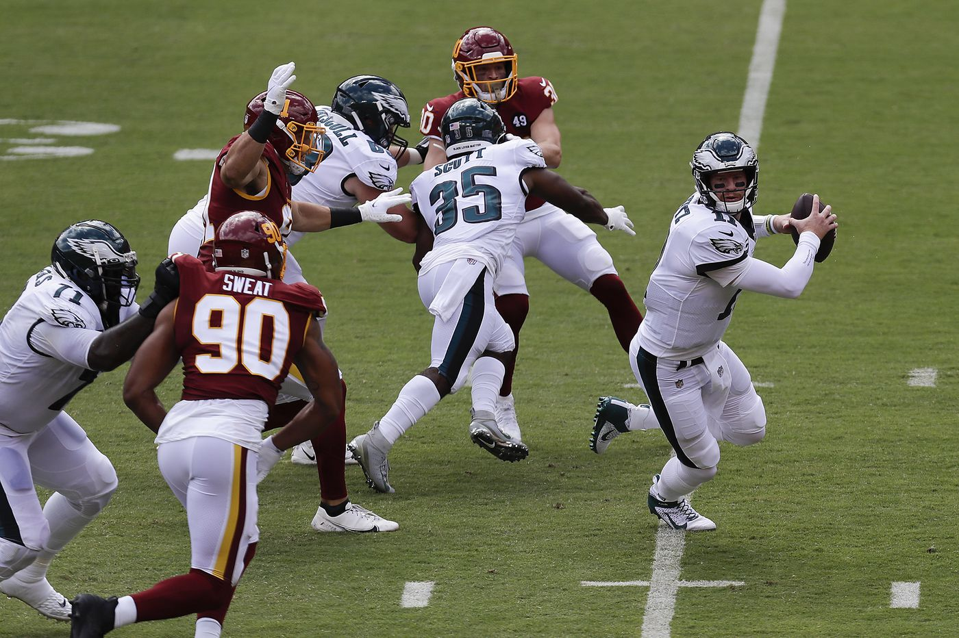 What advanced stats tell us about the Eagles' sack problem, Jalen Reagor's speed, and more   Early Birds