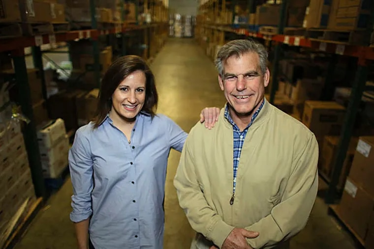 Lee Marvel and daughter Bethany. She recently became director of sales and marketing. JOSEPH KACZMAREK / For The Inquirer