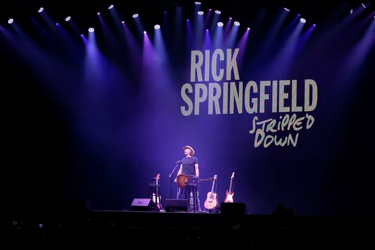 You can't go back. Or can you? Eighties heartthrob/musician Rick Springfield gave fans a throwback to their tween days with a show Thursday night at Parx Casino in Bensalem. ELIZABETH ROBERTSON / Staff Photographer