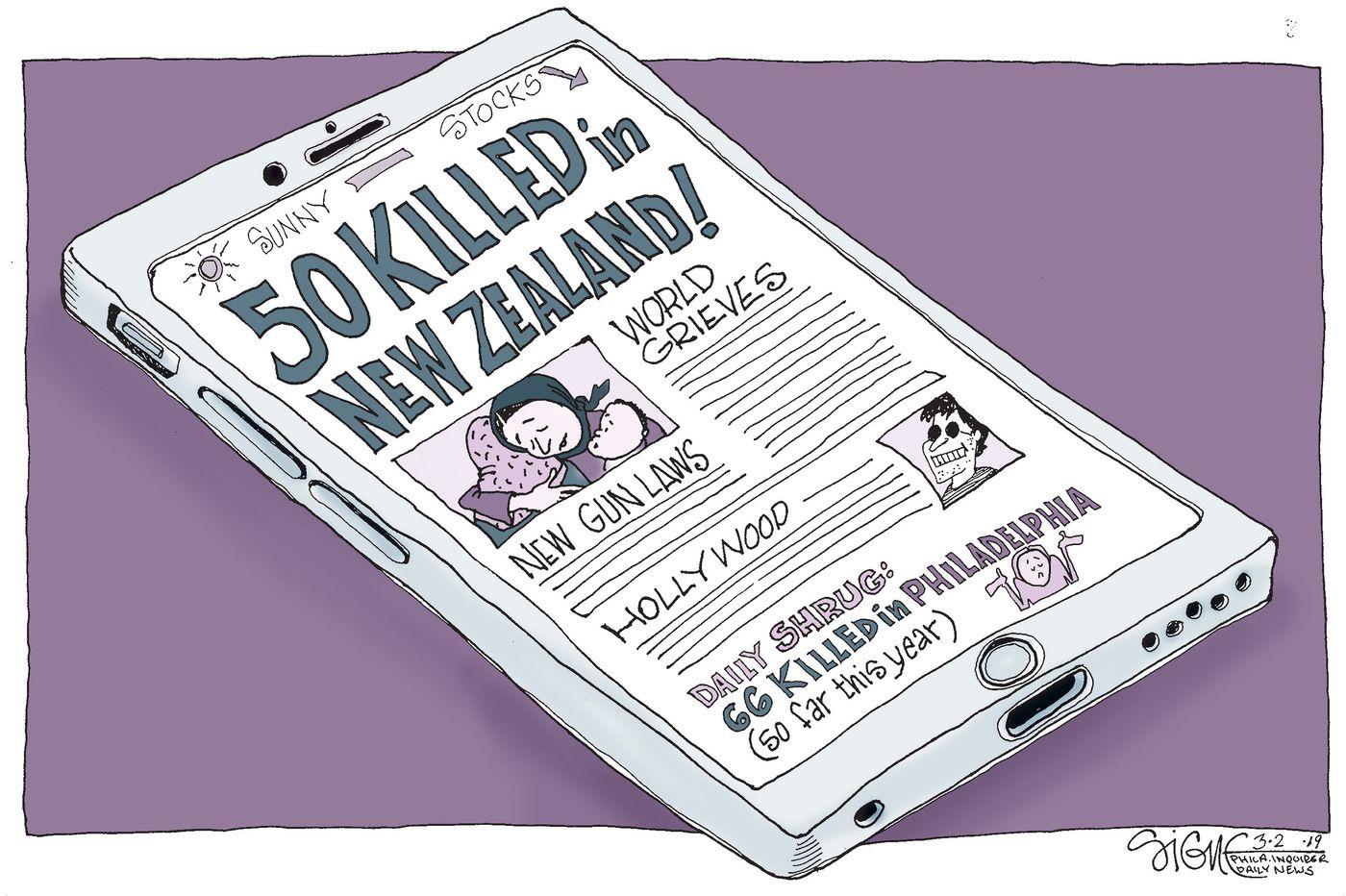 Political Cartoon: Philly's daily murder shrug