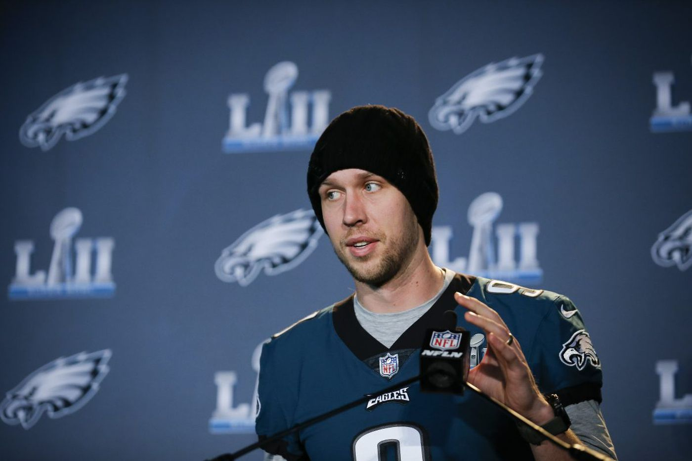 Eagles' Nick Foles is trying to live in the moment. That moment will soon be the Super Bowl