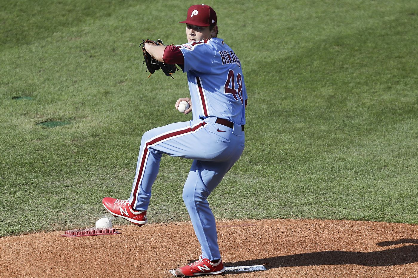 Phillies swept by Braves in doubleheader as Spencer Howard gives up two homers in major-league debut