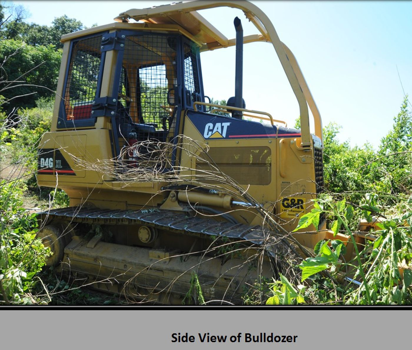 This CAT D4G XL bulldozer, owned by the Pennsylvania Game Commission, was commandeered by state police searching for Gregory Longenecker in July 2018.
