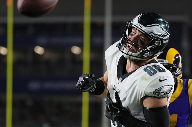 Eagles' Zach Ertz says it was the Rams, not Nick Foles, who kept him from having a big night