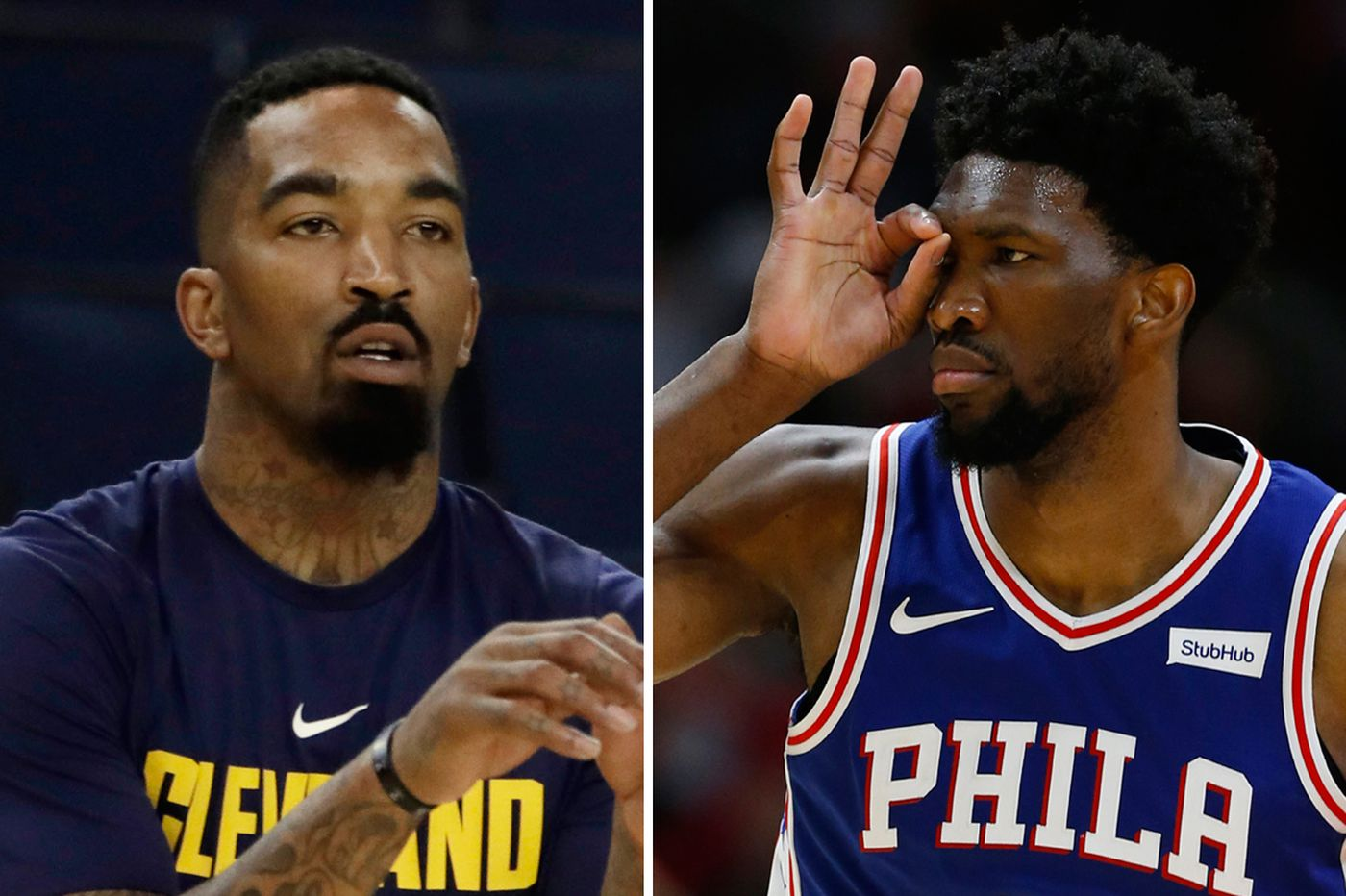 Joel Embiid mocks J.R. Smith's blunder; LeBron James has some words for an ESPN reporter