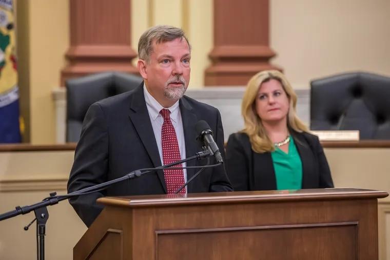 Daniel Hassell, shown here speaking last September, is the secretary of the Pennsylvania Department of Revenue.