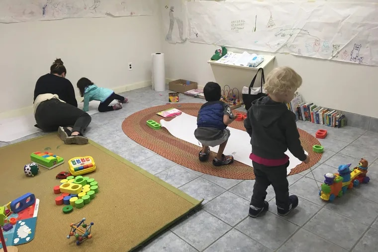 The South Philly campaign office for progressive Democratic state House hopeful Elizabeth Fiedler was transformed earlier this year into a child care nook. She's one of the few who's managed to recruit parents of little kids to help knock on doors, though at least one campaign in the suburbs tried to do the same in July.