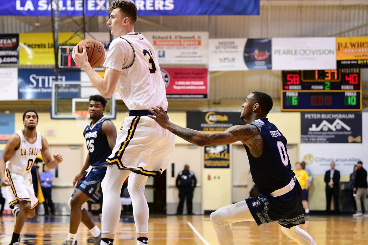 La Salle's Cian Sullivan, an Ireland native, learning the ways of American college basketball