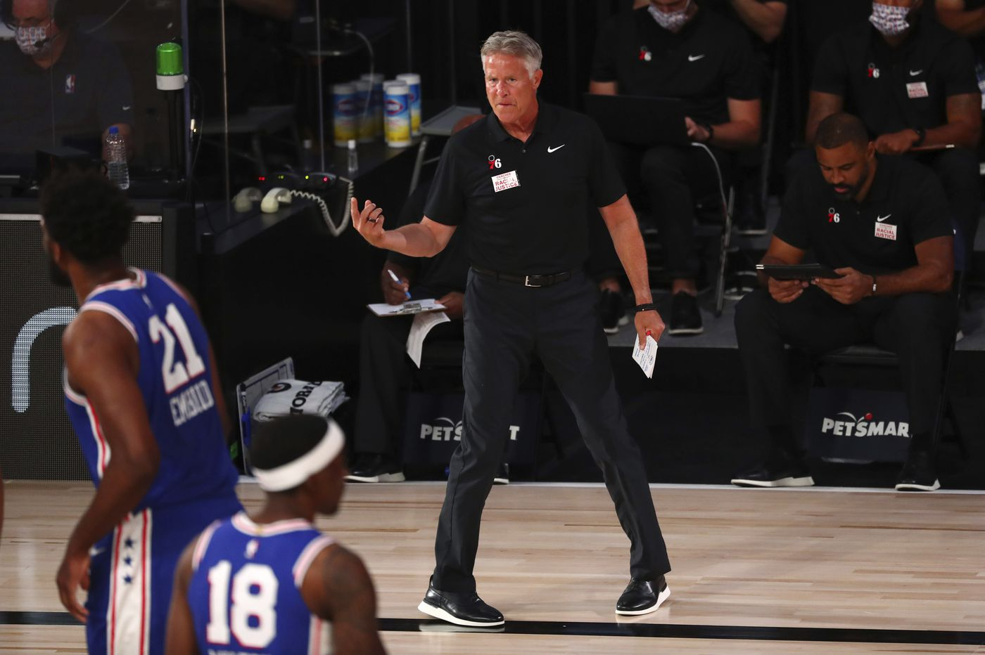 Brett Brown said Sixers' character and talent will help them rebound from 2-0 hole vs. Celtics