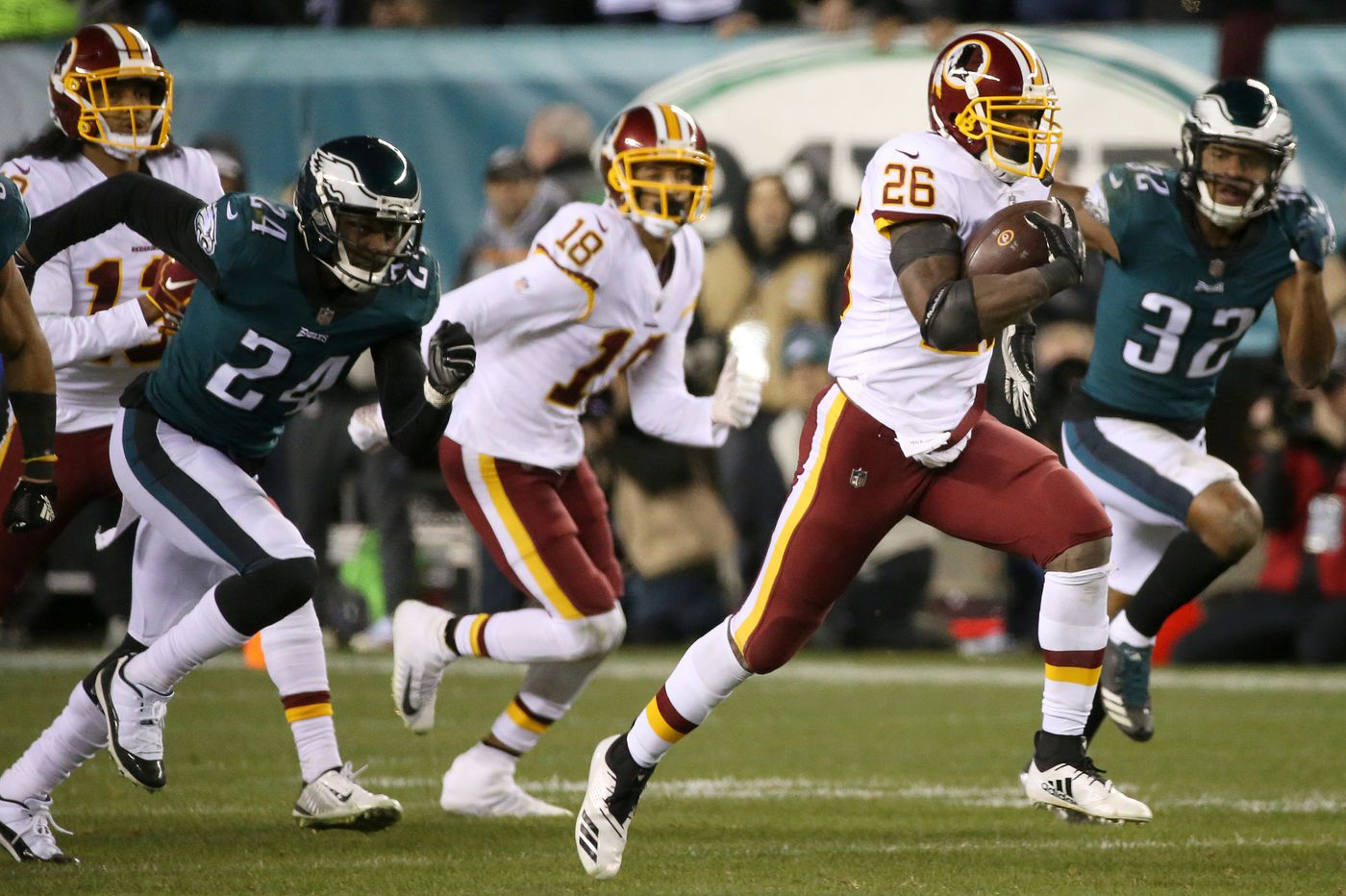 With one 90-yard exception, Eagles defense stopped the run and the Redskins | Bob Ford