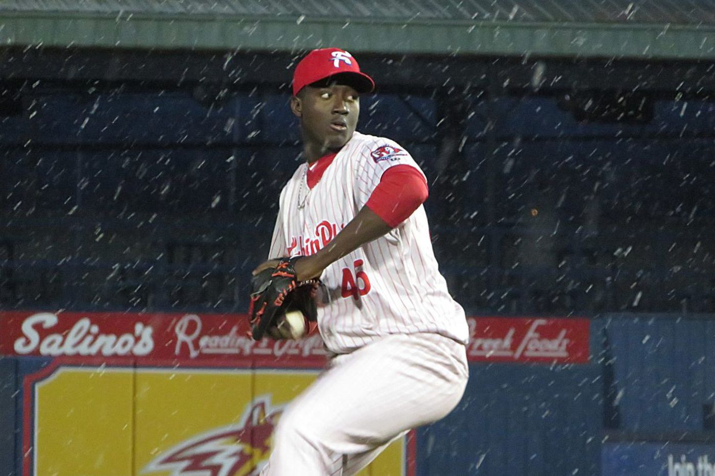 Phillies pitching prospect Franklyn Kilome has eventful first outing for Reading