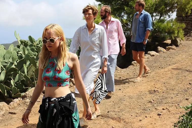 Making a splash: (from left) Dakota Johnson, Tilda Swinton, Ralph Fiennes, Matthias Schoenaerts.