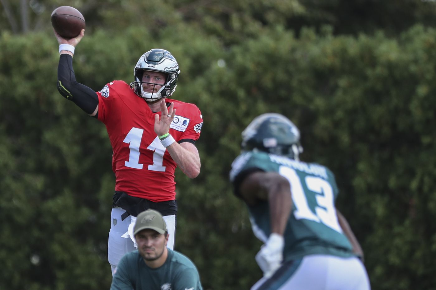 Carson Wentz says he and the Eagles offense are ready to hit the ground running, and throwing