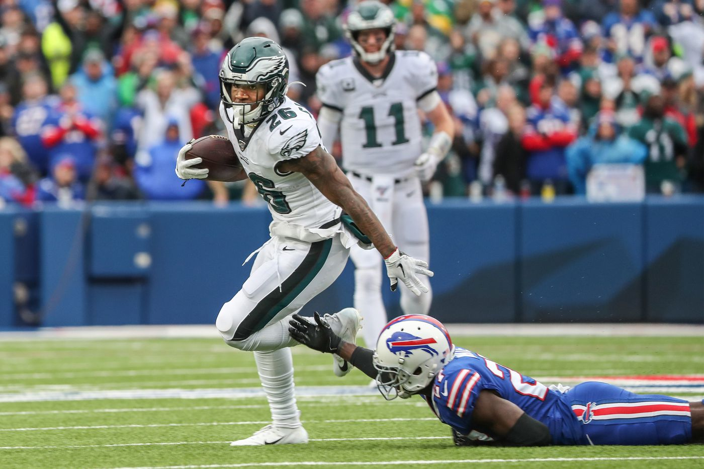 Miles Sanders keeps the volume low off the field, but he doesn't mind the Eagles' plans to turn it up on Sundays