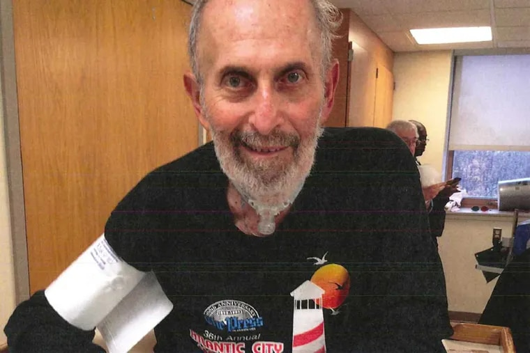 Michael Brassloff is see here as he was recovering from a three-week coma after a botched brain surgery. The former marathon runner can barely walk now, according to his attorneys.