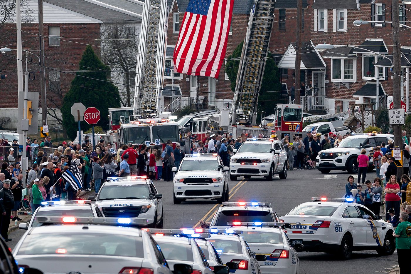 Police vehicle procession honors Sgt. James O'Connor IV, slain in the line of duty a week ago