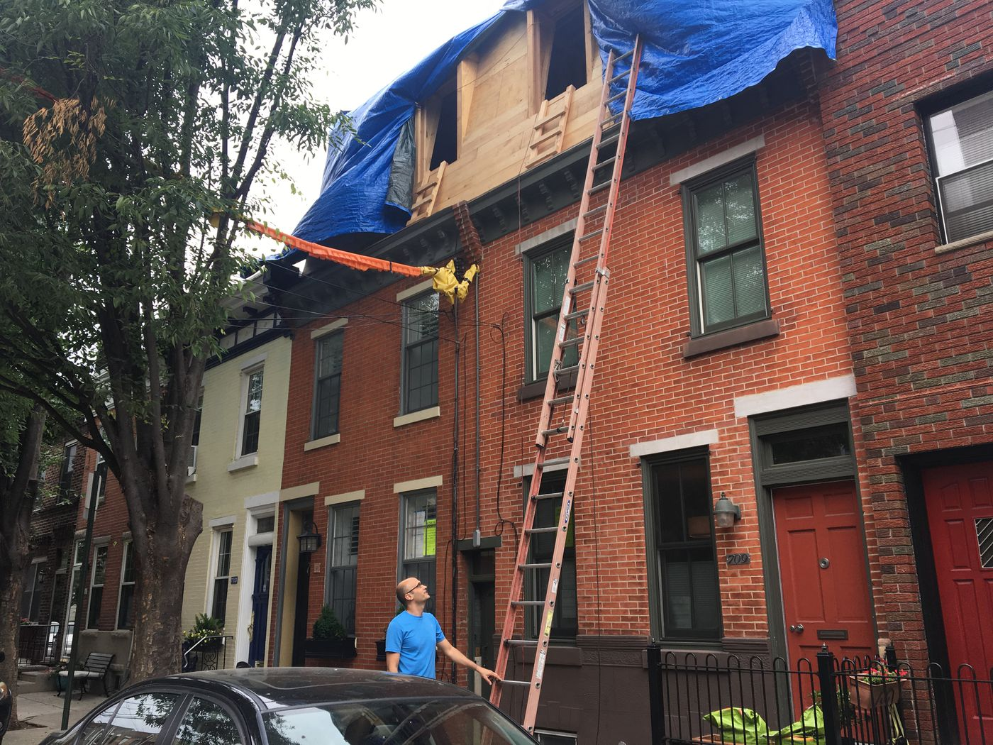 When trading up isn't an option, Philadelphia rowhouse owners build on