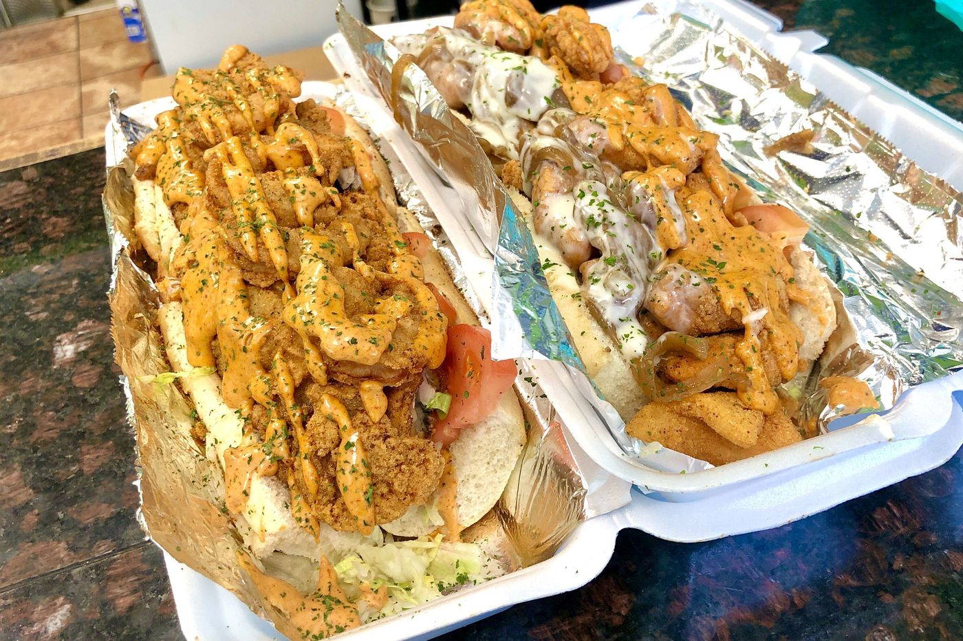 At this East Mount Airy bakery, seafood po'boys come on garlic bread