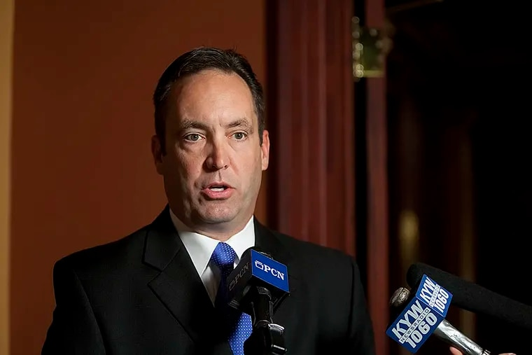 Pennsylvania senator Jake Corman held a press conference on Oct. 19, 2011. ( CHRISTINE BAKER, The Patriot-News )