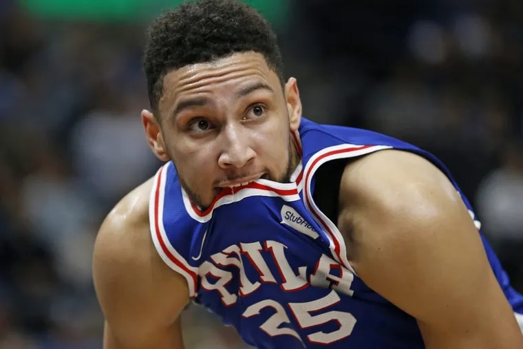 76ers guard Ben Simmons during the second half of the game against the Utah Jazz.