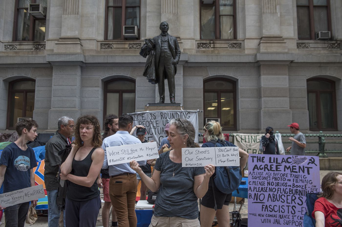 Its Not Just Demonstrators Saying >> For Abolish Ice Protesters And The Targets Of Their Ire What S Next