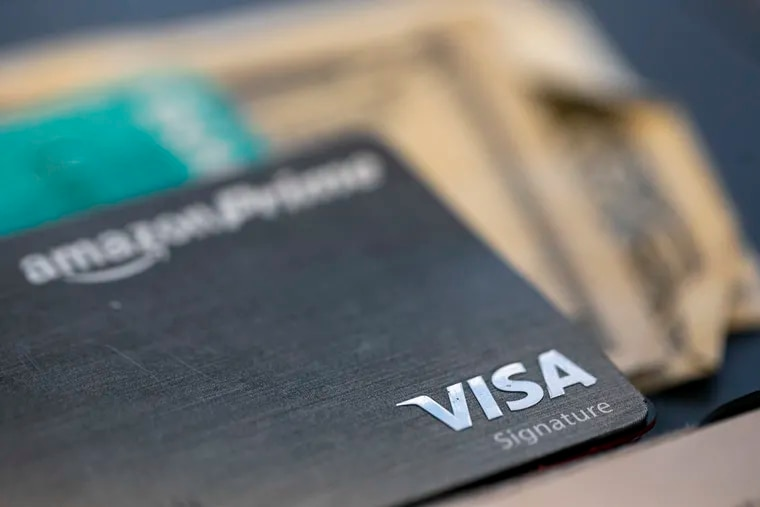 A Visa logo on a credit card. The number of lawsuits over unpaid loans and credit card bills are growing in the U.S., according to a new study from Pew Charitable Trusts.