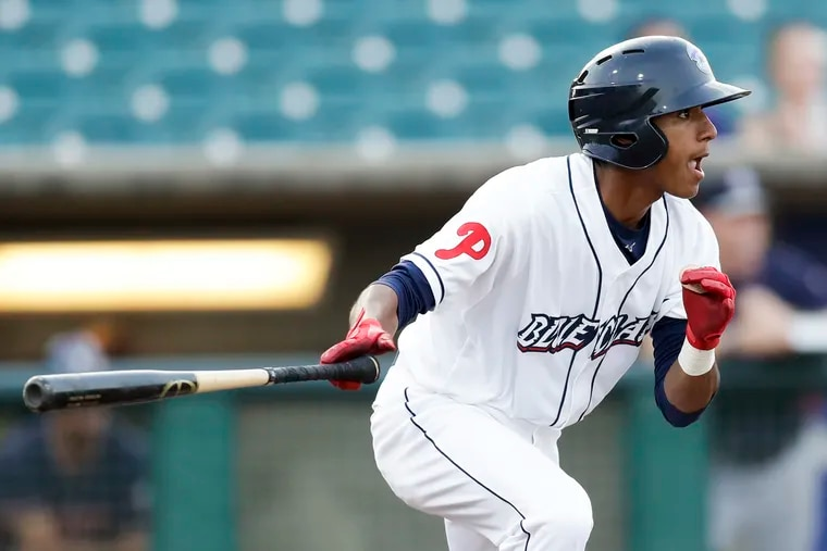 Phillies second-base prospect Daniel Brito went from low-A Lakewood to high-A Clearwater in the middle of the 2018 season.