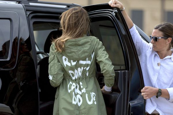 Melania Trump's jacket: Does she really think we don't see the symbolism? | Elizabeth Wellington