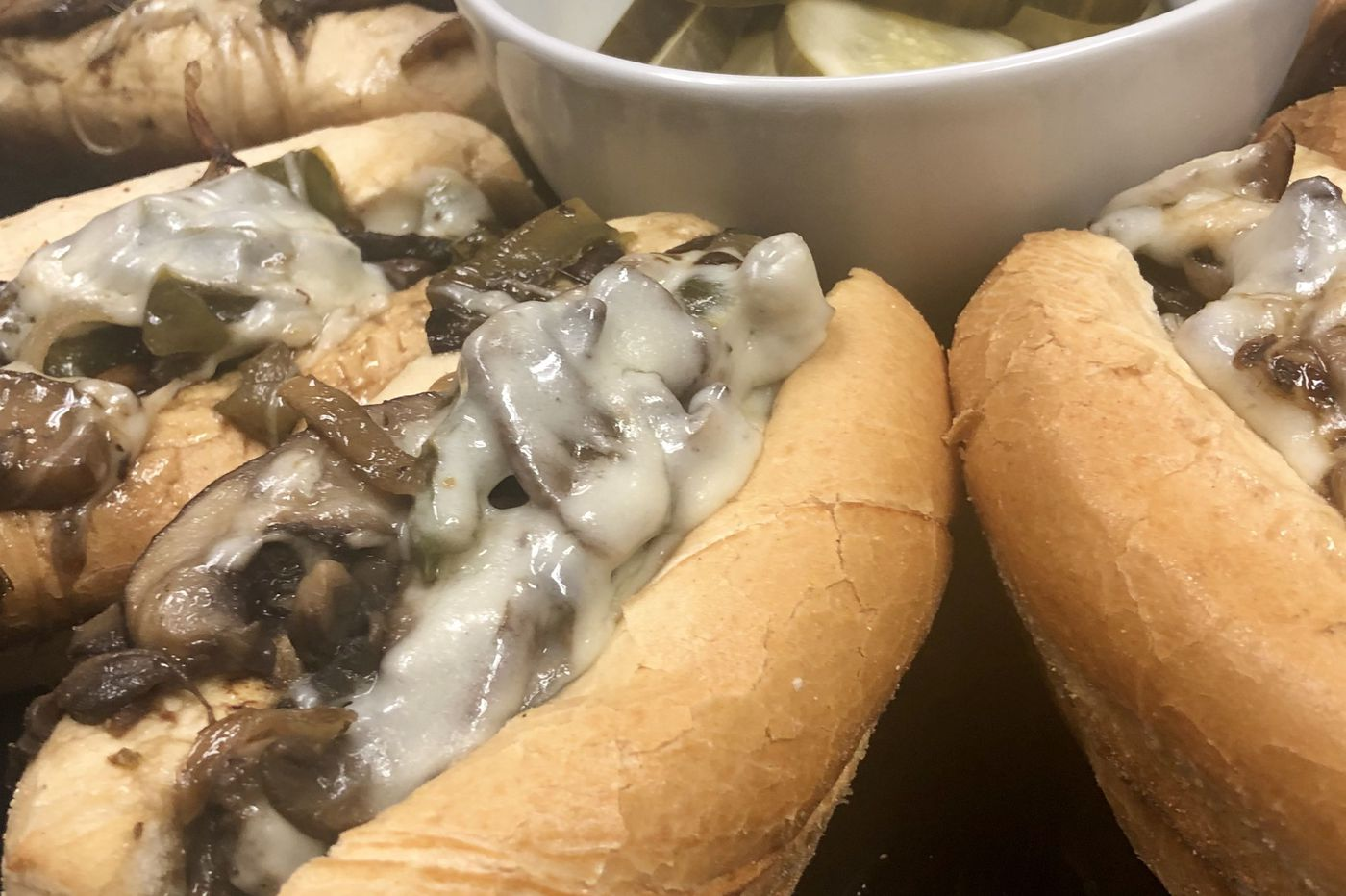 "Kitchen Notebook: Mari's Vegetarian ""Cheesesteaks"""