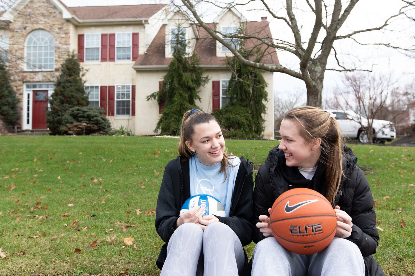 Twin-sister athletes Maddie and Allie Burke go to rival high schools but eat breakfast together every day