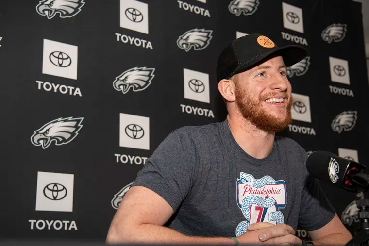 Carson Wentz will take questions from reporters.