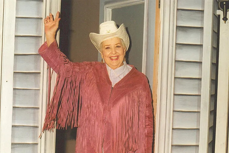 Sally Starr, 90, died Sunday morning. Photo courtesy of Broadcast Pioneers of Philadelphia.
