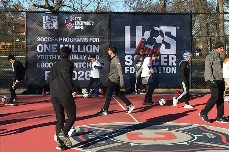 A mini-pitch in Chicago built by the U.S. Soccer Foundation and the Chicago Fire.