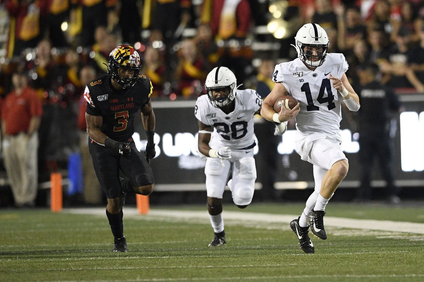 Sean Clifford has a big first half, and Penn State rolls to a 59-0 victory over Maryland in Big Ten opener