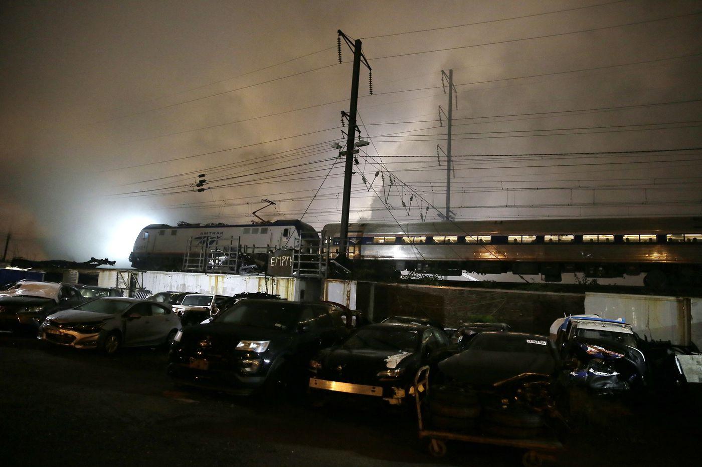 Amtrak, SEPTA resume full rail service through Frankford after junkyard fire