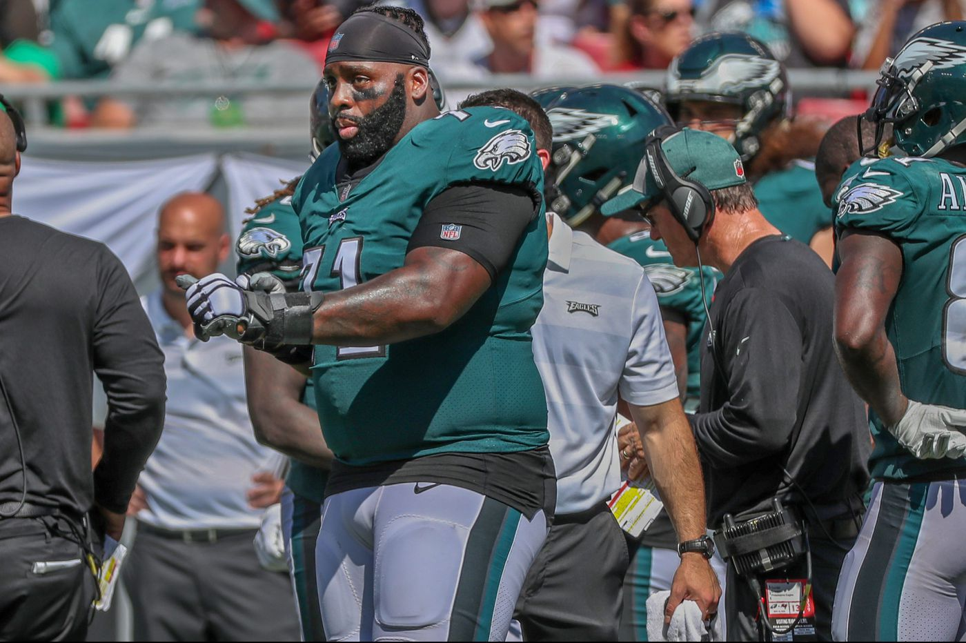 Eagles offensive line coach Jeff Stoutland doesn't think Jason Peters will miss time