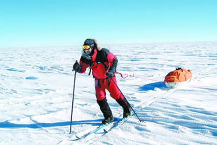 Todd Carmichael of Gladwyne during an attempt in 2004 to trek to the South Pole.