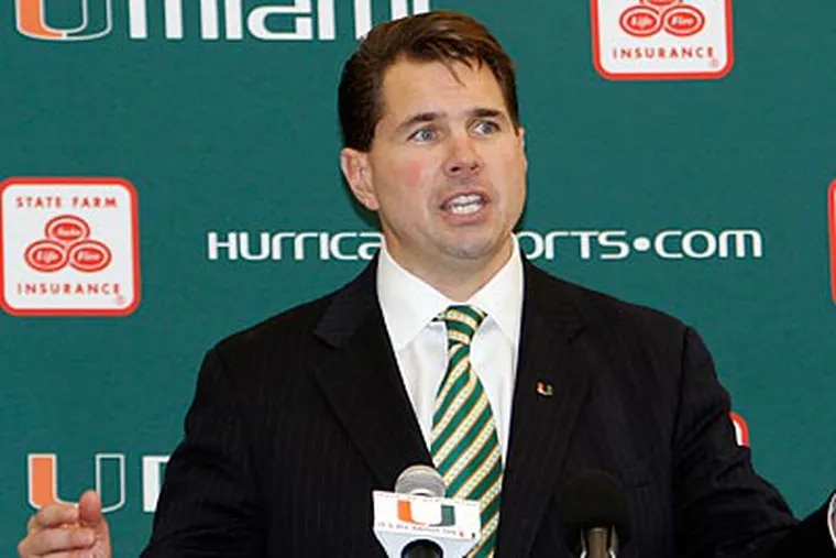 Former Temple coach Al Golden has been put in charge of restoring Miami to its former glory. (Alan Diaz/AP)