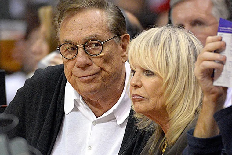 Clippers owner Donald Sterling and his wife, Rochelle. (Mark J. Terrill/AP)