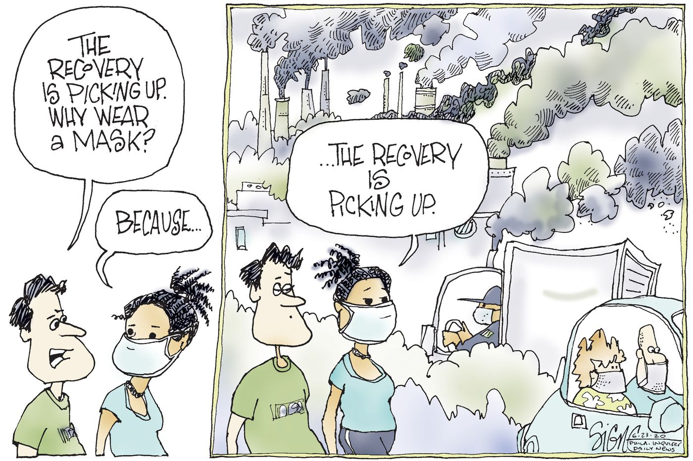 Political Cartoon: Masking pollution