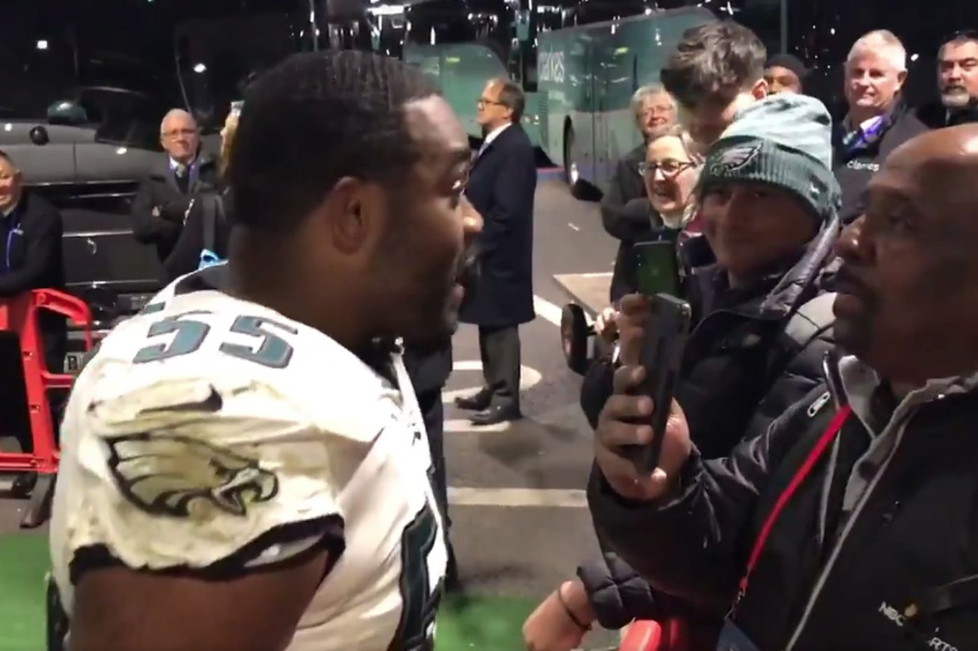 Brandon Graham loves calling out NBC Sports Philly's Derrick Gunn after Eagles games