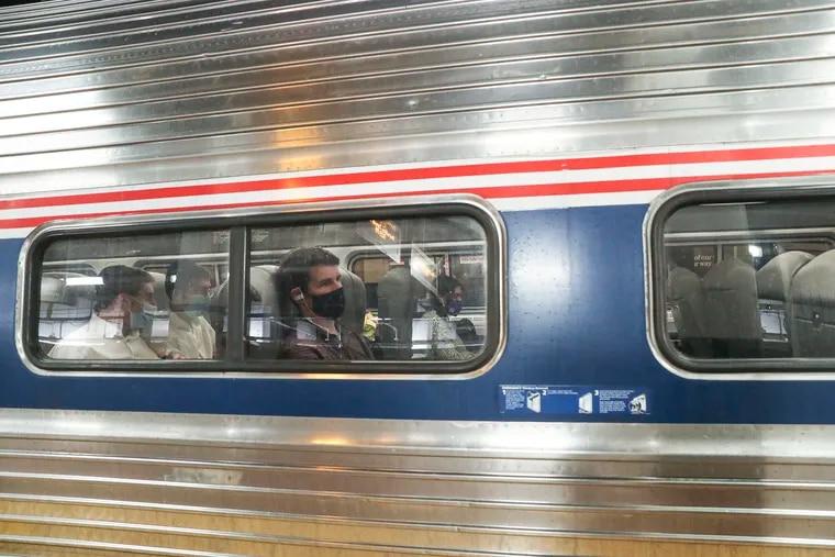 An Amtrak Northeast Regional train at Philadelphia's 30th Street Station last month.